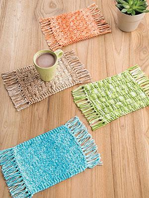 Mug Rugs Knit