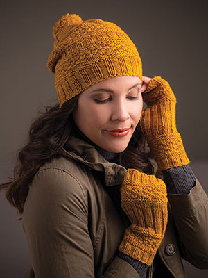 Pumpkin Spice Hat & Mitts Set