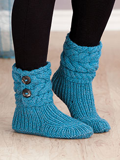 Cable Cuffed Boots