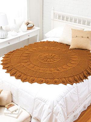 Chestnut Circular Throw Crochetalong