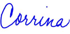 Corrina signature